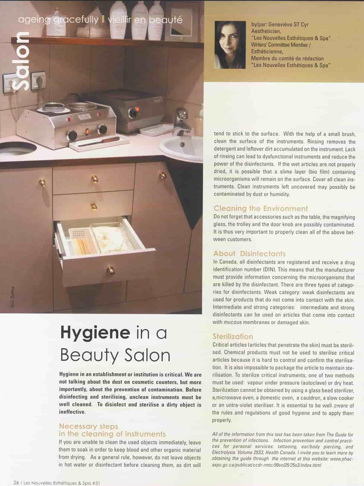 hygiène en institut de beauté